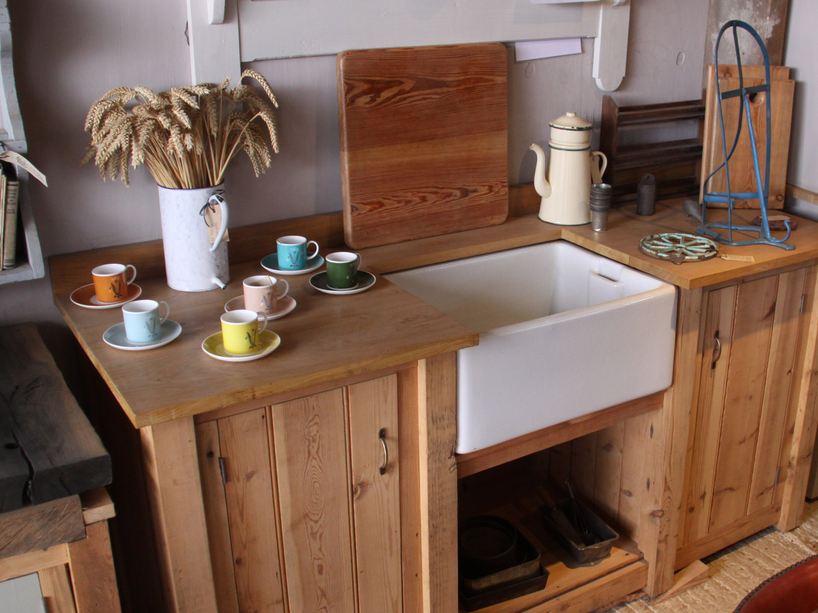 Bespoke solid wood kitchen units from reclaimed timber - Reclaimed wood kitchens ...