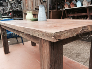 Sideboard and Table Set from Reclaimed Timber