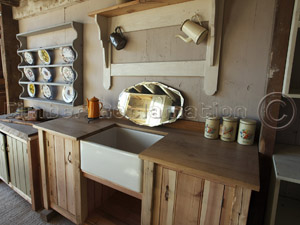 Bespoke Kitchen Sink Unit from Reclaimed Timber