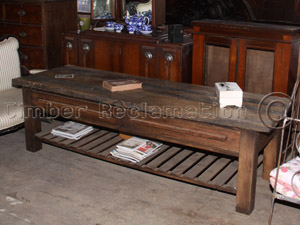 Bespoke Furniture: Table from reclaimed Lockgate
