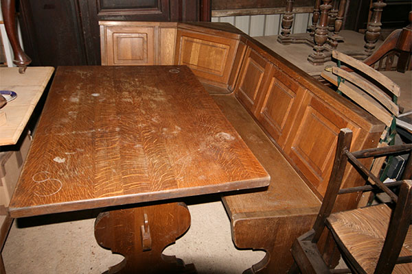 For SALE Old Oak Table with matching Corner Bench